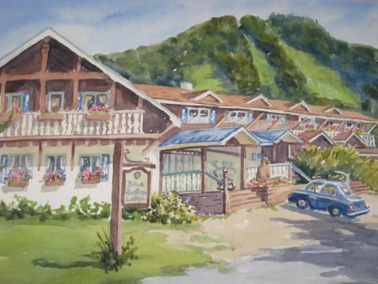 Blue Gentian Lodge: Postcard Watercolor