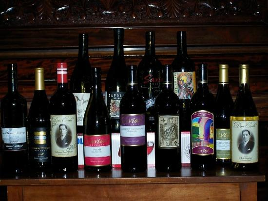 Winery Tours Walla Walla: Counting wine after the tour.