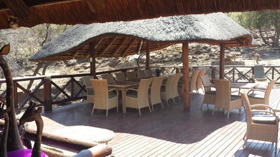 Matswani Lion Lodge : Mittagessen Bereich