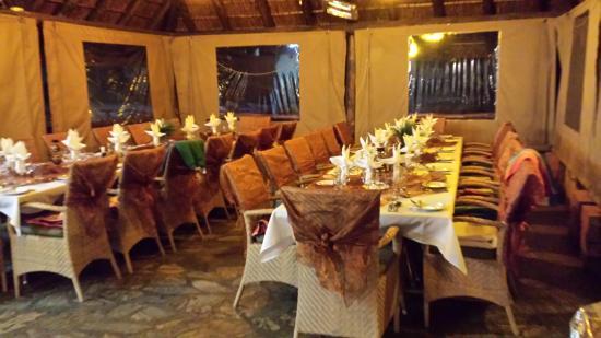 Matswani Lion Lodge : Speisesaal