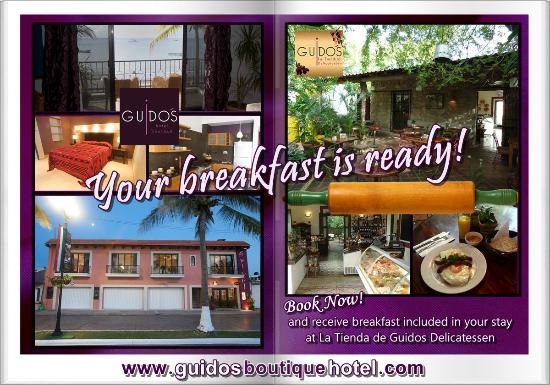 Guidos Boutique Hotel: Complimentary American Breakfast for 2 at La Tienda de Guidos