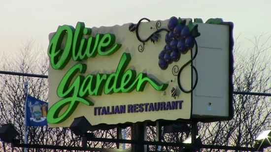 This is the sign outside of olive garden clifton park New York ...