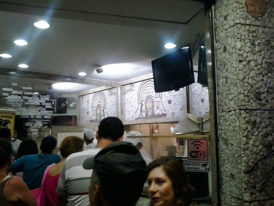 Sorveteria Sao Domingos: Painel na parte interna