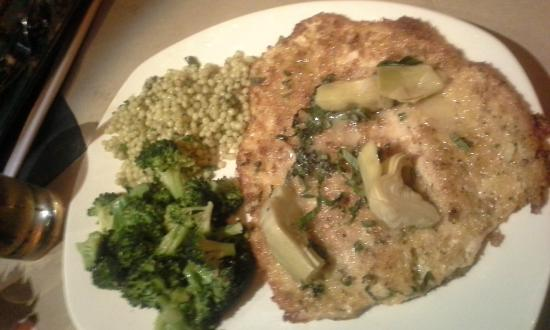 Bonefish Grill: Pecan-crusted Trout w/broccoli and couscous... VERY good.
