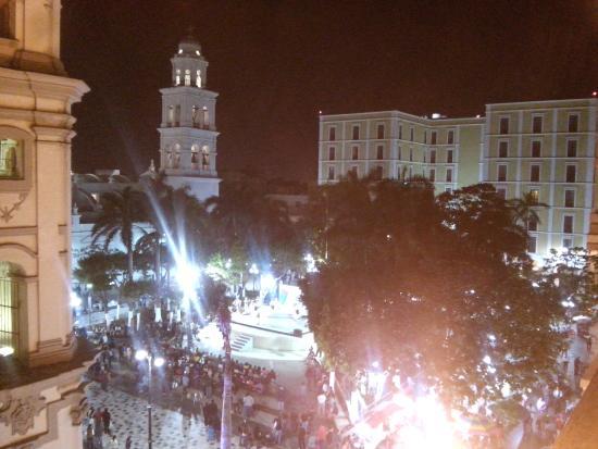 Hotel Colonial: Vista desde el balcón