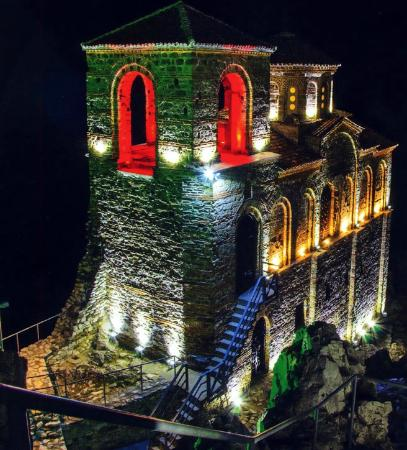 Shiroka Laka, Bulgaria: Asen's Fortress @ night