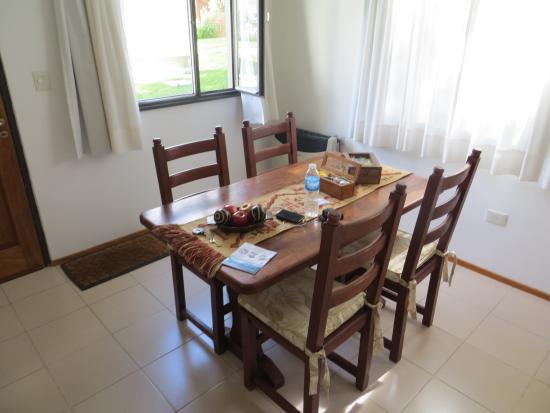 Cabanas Rio de las Vueltas: dinner table