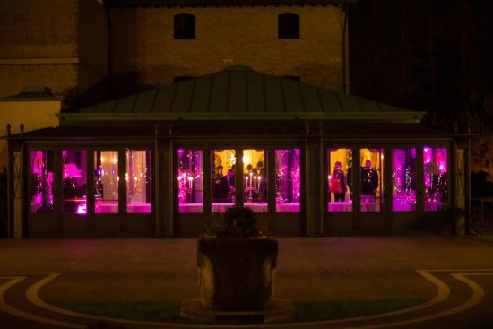 Hotel Villa Franceschi : The view of the party place from the garden