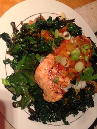 One World Cafe : Another nightly special- sweet chilli salmon.