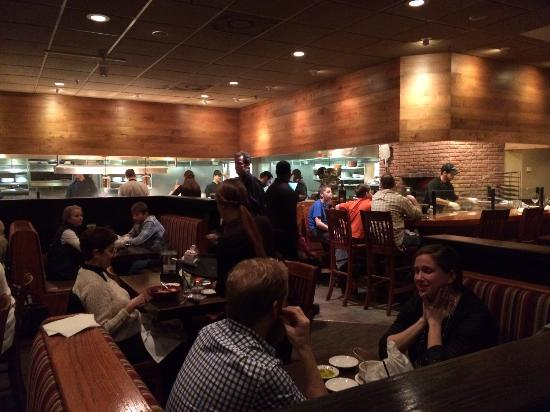 Carrabba's Italian Grill : Central cooking area is visable