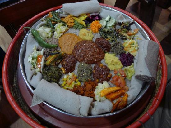 Yod Abyssinia Traditional Food: Vegetarian meal
