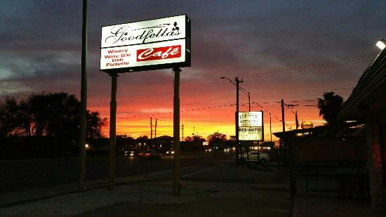Goodfellas Cafe & Winery: we are located at clark and mcintosh
