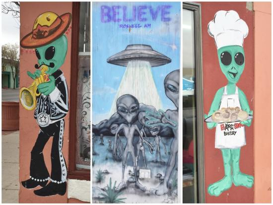 Downtown Historic District: Some more of the alien-themed sights in downtown Roswell, NM