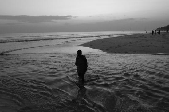 Radhanagar Beach: the B/W beauty