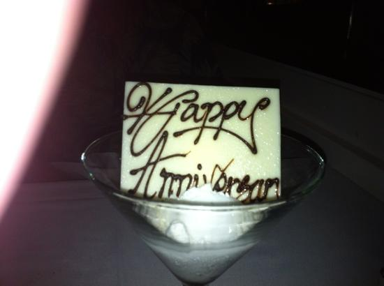 Temple of Taste Restaurant & Terrace: A nice touch for a special occasion.