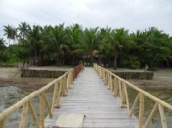 Cooper's Beach Resort: Dock to shore