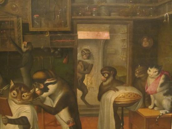 barbershop with monkeys and cats picture of museo soumaya mexico