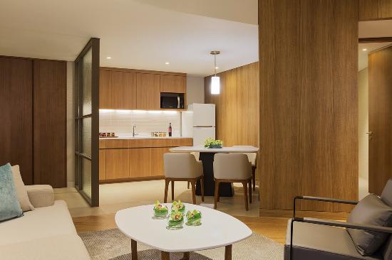 Grand Hyatt Incheon: West Tower_Residence Two Bed_livingroom