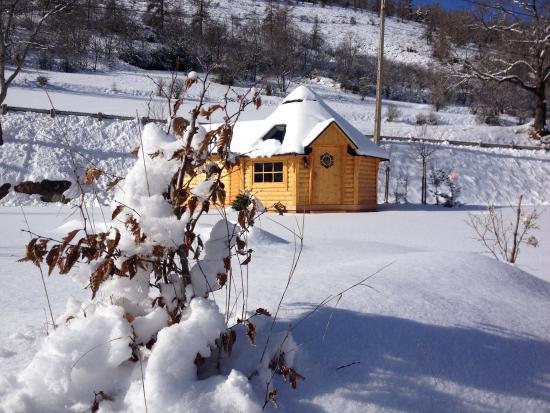 Beuil, Frankrike: Kota finlandais au Camping le Cians