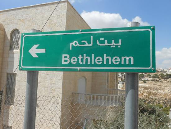 Angel Hotel: A pointer sign to Bethlehem