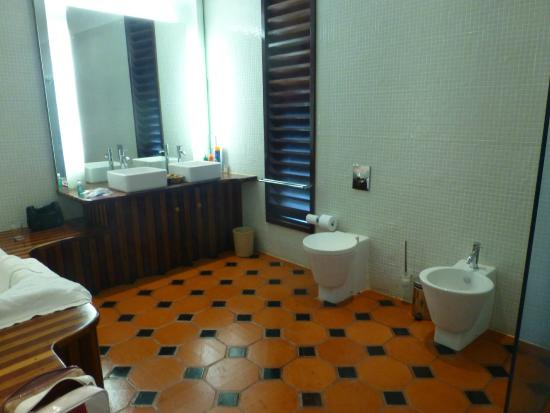 Lance aux Epines, Grenada: This isn't a luxurious bathroom.
