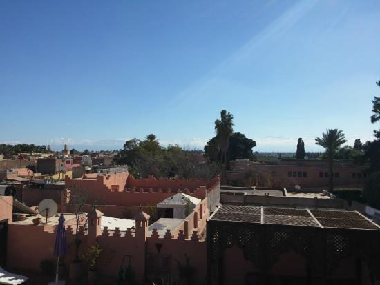 Riad Anya : View from the Terrace above the room. The Atlas Mountains in the distance.