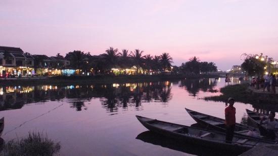 Cinnamon Cruises: Hoi An riverside at dusk