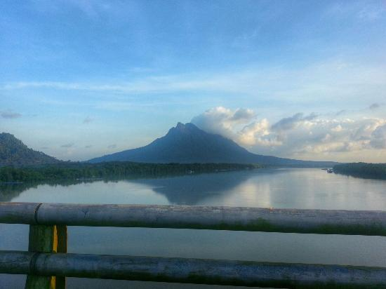 Mount Santubong: Santubong can be seen from across the highway