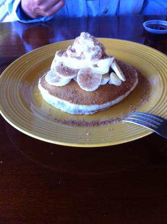 Friends Near the Pier: This picture doesn't do justice to the creamy, fluffy, sugary goodness of the banana pancakes.