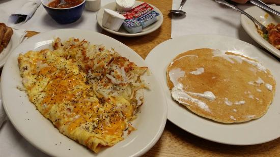 Inn Pancake House The : Ham & cheese  omelet & a big ole pancake