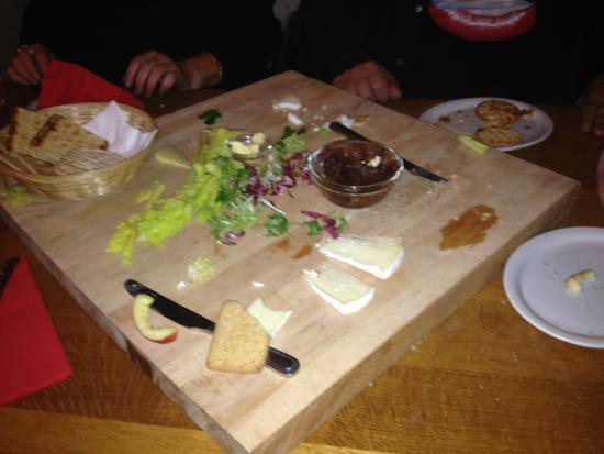 Two Sawyers: The very nearly demolished cheese board!