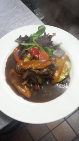 The White Mill Inn Pan Fried Beef Fillet On A Bed Of Stir Fried