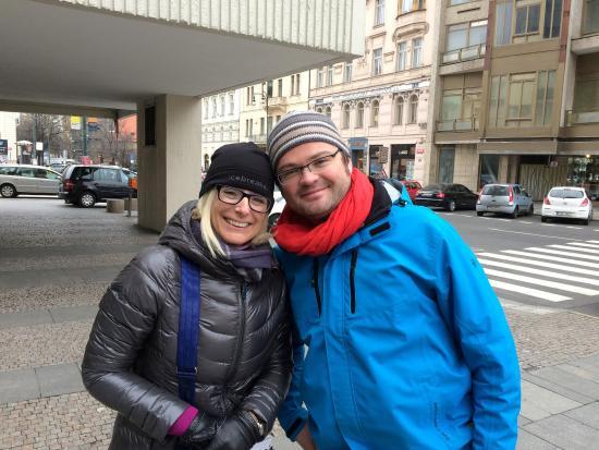 World War II in Prague Tour : Pavel notre guide avec Lyne