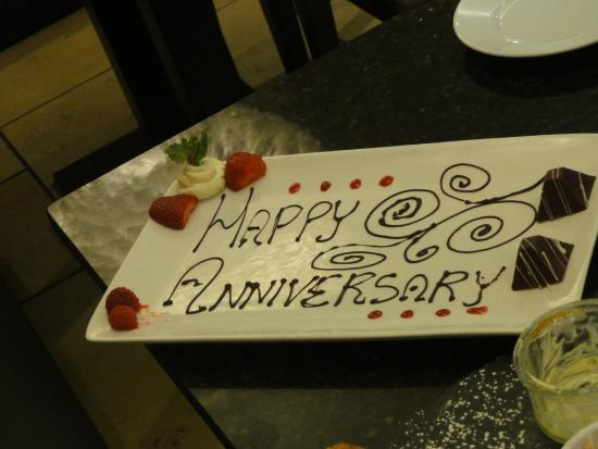 The Swan Brasserie at The Swan Hotel: Anniversary chocolate plate