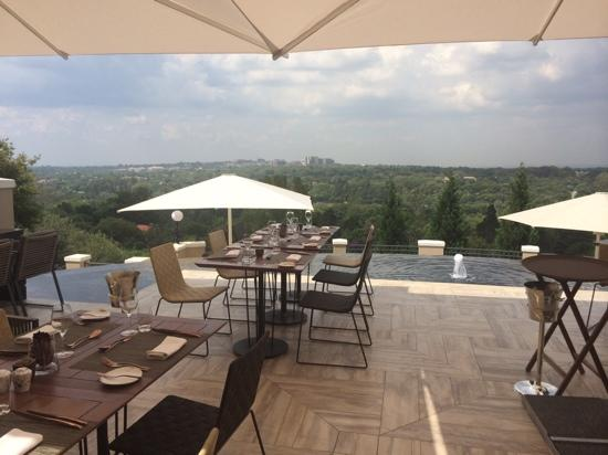Four Seasons Hotel The Westcliff Johannesburg : Lunch on top of the world!