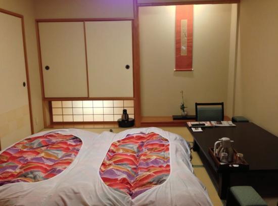 Rangetsu: futon bed which was prepared and put away each day