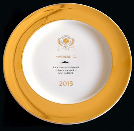 Beef & Lamb Excellence Award 2015 awarded to delissi