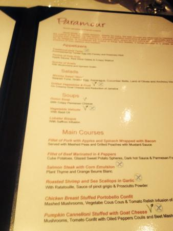 Now Sapphire Riviera Cancun : Menu at paramour