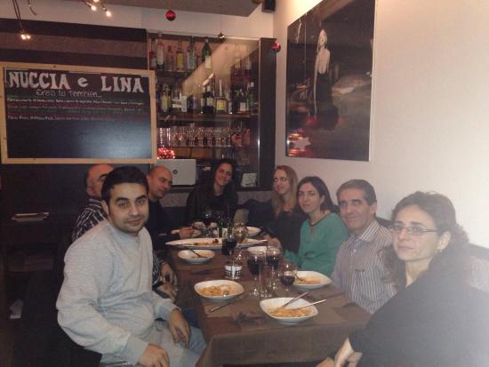 Cena de Navidad en Nuccia e Lina.