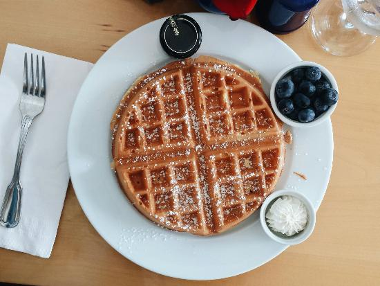 Wild Blueberry Cafe LLC : Waffle-- crispy on the outside, light and tender on the inside.