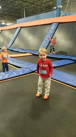 Sky Zone Trampoline Park Columbus: The section for smaller jumpers