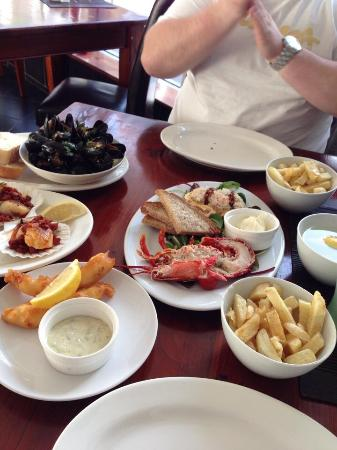Naked Fish: We asked for a selection so we can try different items from the menu