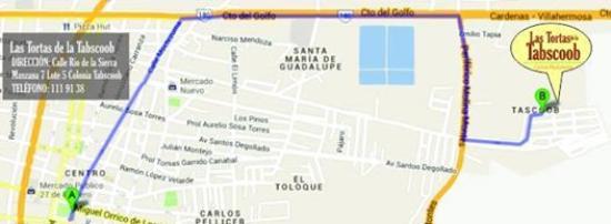 Cardenas, Meksyk: mapa