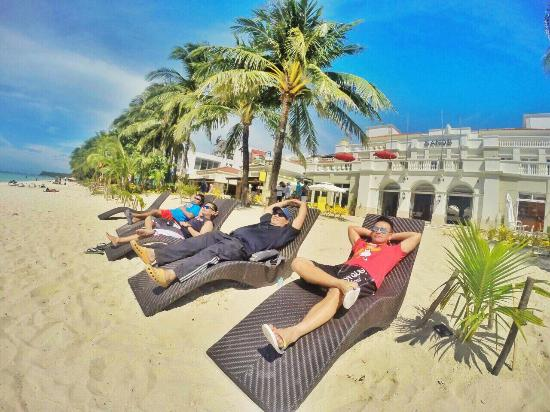 Boracay Sands Hotel White Beach Strip In Front Of With My Dive Buds