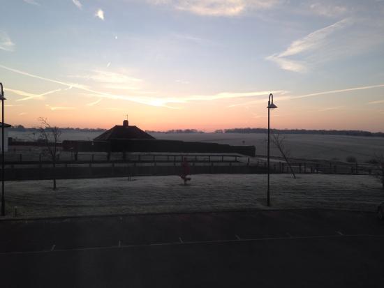 Holiday Inn Express Epsom Downs: Epsom racecourse early morning in january
