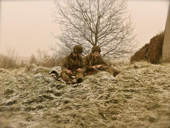 just enjoying some conversation picture of bastogne battle of the