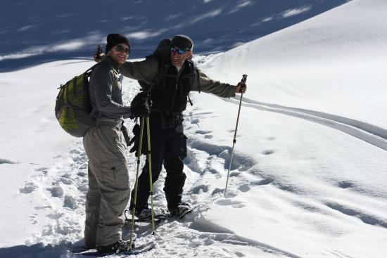 Taos Snowshoe Adventures : Stuart and my husband