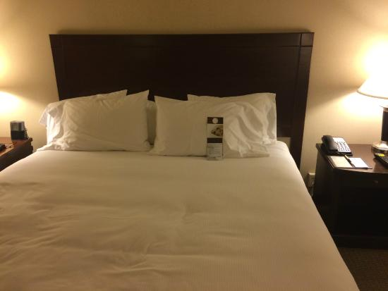 Doubletree Houston Intercontinental Airport : Typical DoubleTree bed - comfortable and clean - Room 720