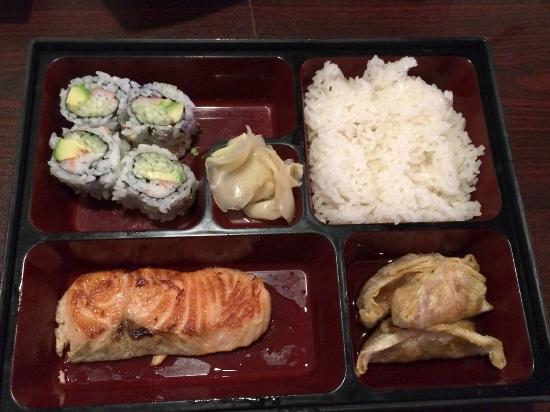 Bento box picture of osaka japanese restaurant iowa for Asian cuisine grimes ia menu