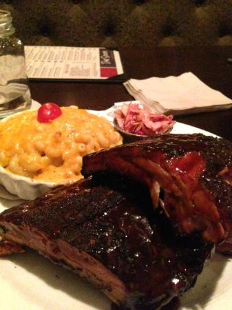 Due South: Ribs, Mac & Chz and Spicy Tomato Slaw -- Yummy!